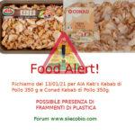 Allerta alimentare richiamo per Keb's Kebab di Pollo AIA e Conad