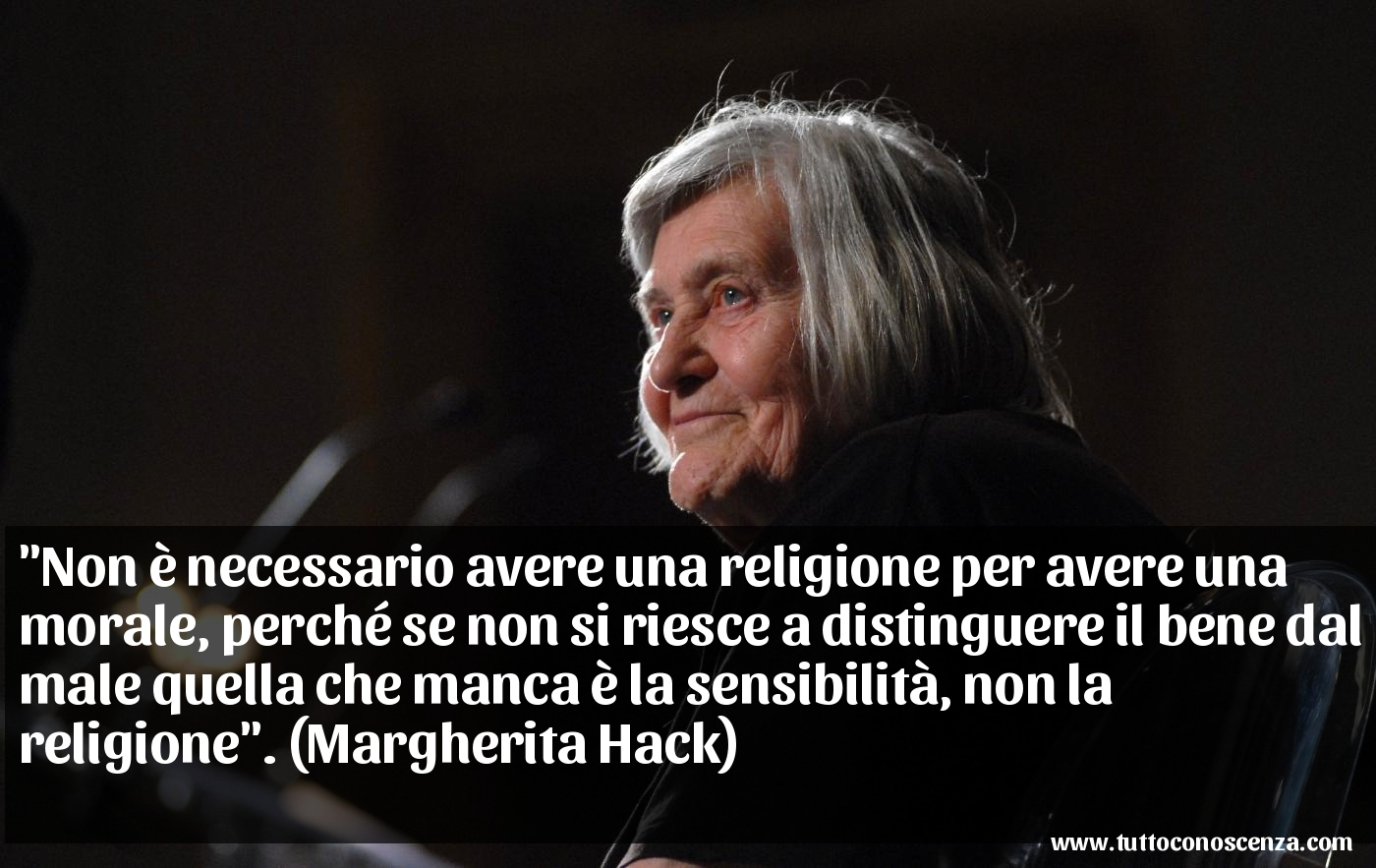 Frase di Margherita Hack sulla sensibilità