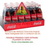 Allerta alimentare richiamo per Coca Cola Original Taste rischio corpi estranei