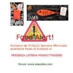 Allerta alimentare richiamo per Salmone Affumicato Foods of Scotland