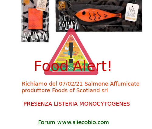 Richiamo Salmone Affumicato Foods of Scotland