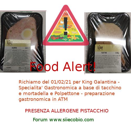 Richiamo alimentare prodotti King