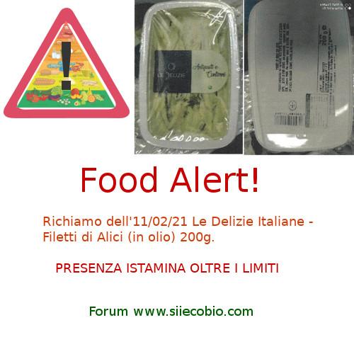 Le Delizie Italiane Filetti Alici richiamo
