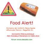 Allerta alimentare richiamo per Pesce Spada Affumicato Trancio - Regalfish
