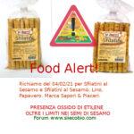 Allerta richiamo alimentare per Sfilatini al Sesamo Sapori & Piaceri