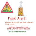 Allerta alimentare richiamo per Pifferi al Sesamo Trevisan