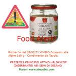 Allerta alimentare richiamo per Gomasio alle Alghe Vivibio