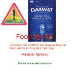 Allerta alimentare richiamo per Daawat Original Basmati Rice - Riso Basmati