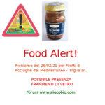 Allerta alimentare richiamo per Filetti di Acciughe del Mediterraneo Triglia srl