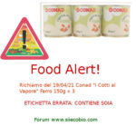 Allerta alimentare richiamo per Conad I Cotti al Vapore Farro