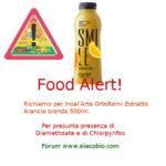 Allerta alimentare per Insal'Arte OrtoRomi Estratto arancia bionda