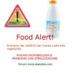 Allerta alimentare richiamo per Candia Latte Alta Digeribilità
