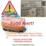 Allerta alimentare per Trancio di Tonno a Pinne gialle Ittica Zu Pietro