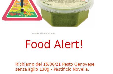 Pastificio Novella richiamo Pesto Genovese senza aglio