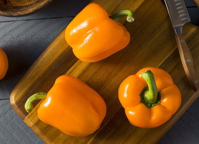 Peperoni giallo arancio per la salute degli occhi