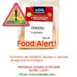 Allerta alimentare richiamo per Zenzero in polvere biologico Sottolestelle