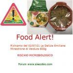 Allerta alimentare richiamo per Le Delizie Emiliane Minestrone di Verdura