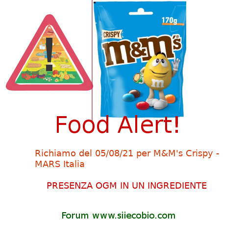 MeM Crispy Mars richiamo OGM