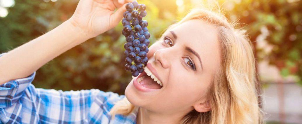 Uva fa bene alla pelle