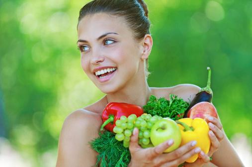 Frutta e verdura colorito pelle