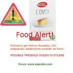 Allerta alimentare per Molino Rossetto L'OV preparato addensante per prodotti da forno