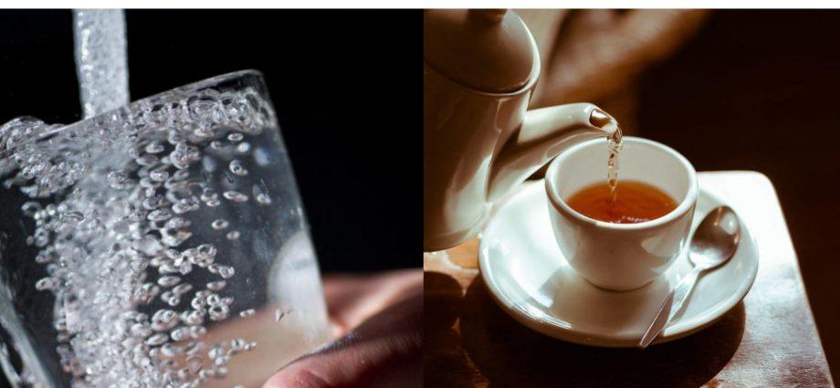 Tè con acqua del rubinetto